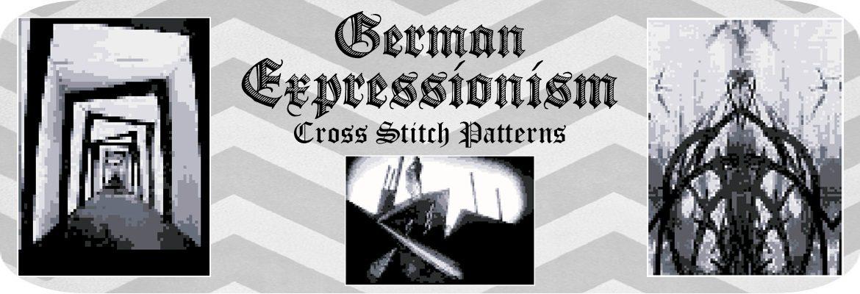 German Expressionism Cross Stitch Pattern Slider