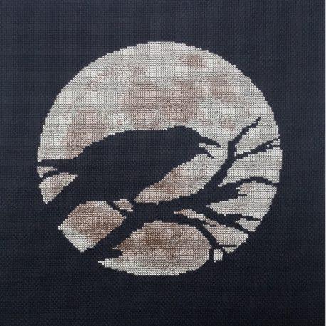 Raven Moon Cross Stitch
