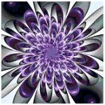 Purple Flower cross stitch pattern