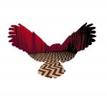 Twin Peaks Owl White Background Cross Stitch Pattern